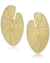 LJD Designs - Lily Pad Earrings - Lyst