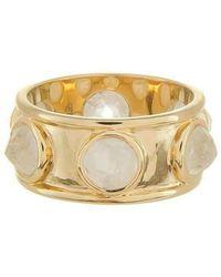 Emily & Ashley - Gold Inverted Stone Ring, Moonstone - Lyst
