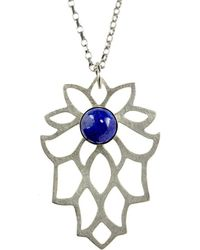Sima Vaziry - Bloom Lapis Necklace - Lyst