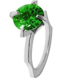 Luke Goldsmith - Green Cubic Zirconia Cocktail Ring - Lyst