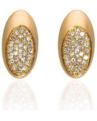 Xavier Civera - Rose Gold Oval Diamond Earrings - Lyst