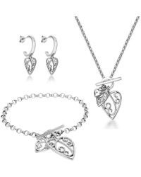 Lily and Lotty - Aimee Necklace, Earrings & Bracelet Set - Lyst