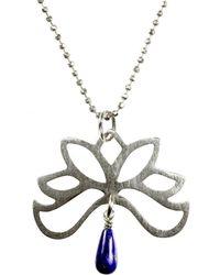 Sima Vaziry - Half Bloom Lapis Necklace - Lyst