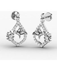 Diamoire Jewels Incessant Diamond Earrings in 18kt Rose Gold 9ngno