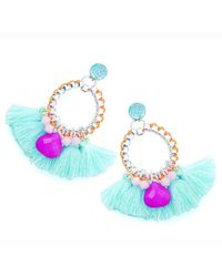 Clare Hynes   Light Blue Martha Tassel Earrings   Lyst