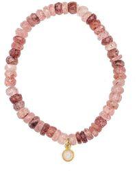 Heather Kenealy Jewelry - Russian Pink Muscovite With Moonstone Drop Bracelet - Lyst