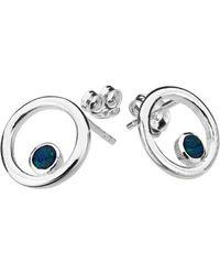 ICHU - Open Circle Opal Earrings - Lyst
