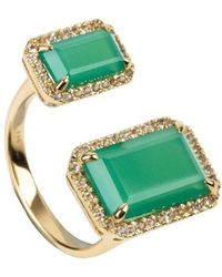 Emily Mortimer Jewellery - Electra Chrysoprase Ring - Lyst