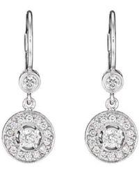 Penny Preville - Diamond Pavé Round Earrings On Bezel French - Lyst