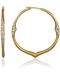 Anahita Jewelry - 18kt Gold And Diamond Hoop Earrings - Lyst