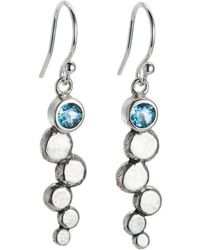 Alison Moore Designs - Blue Topaz Pebble Drop Earrings - Lyst