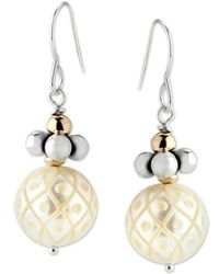 Elisa Ilana Jewelry - Sterling Silver & Hand-carved Pearl Earrings | - Lyst