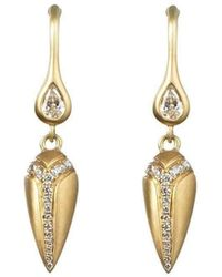 Anahita Jewelry - 18kt Yellow Gold Spear Earrings - Lyst