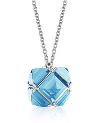 Paolo Costagli New York - Blue Topaz 'very Pc' Pendant Necklace, Petite - Lyst