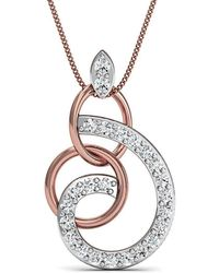 Diamoire Jewels Hand-carved Quality 14kt Rose Gold and Diamond Pendant in a Pave Setting pXdBafnGLK