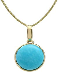 Lali Jewels - 14kt Yellow Gold Turquoise Pendant With Chain - Lyst
