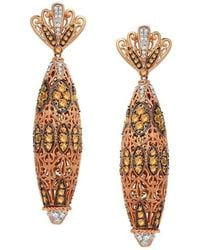 """Dallas Prince Designs - """"mosaic"""" Earring With Golden Sapphire And Diamonds - Lyst"""