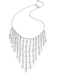 Chavin Couture - Silver Statement Triangle Necklace - Lyst
