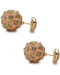 Socheec - Eccentric Ice Diamond Ball Earring - Lyst
