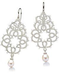 Brigitte Adolph Jewellery Design - Sissi Ii Silver Lace Earrings - Lyst