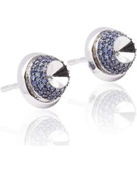Xavier Civera - White Gold And Blue Sapphire Opulent Earrings - Lyst