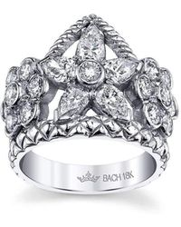 Cynthia Bach   Flower Crown Ring With Diamonds   Lyst