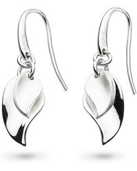 Kit Heath - Enchanted Double Leaf Sandblast Drop Earrings - Lyst