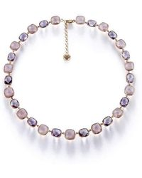 BCOUTURE - Rose Quartz And Pink Amethyst Choker Necklace - Lyst