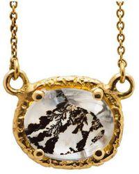 Susan Wheeler Design - Dendritic Quartz Gold Wrapped Necklace - Lyst