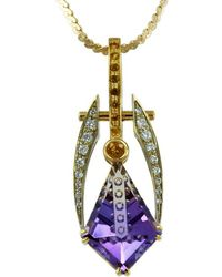 Shop womens alex gulko custom jewelry necklaces from 840 lyst alex gulko custom jewelry ametrine pendant yellow and white gold lyst aloadofball Image collections
