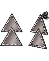 Alexa Leigh - Large Double Triangle Earrings - Lyst
