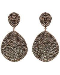 Latelita London Monte Carlo Earrings Rose Gold Champagne j9V47