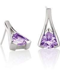 MANJA Jewellery - Valentine Amethyst Earrings - Lyst