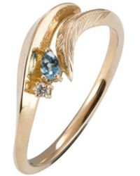 Daou Jewellery - Feather Aquamarine Ring - Lyst