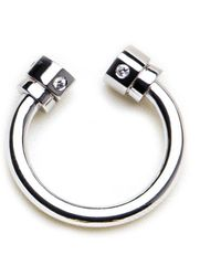 GHADA ALBUAINAIN - Pipe In White Gold Ring - Lyst