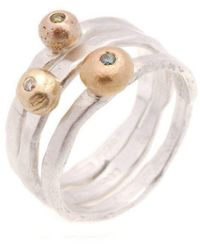 Erin Cox Jewellery - Diamond Ball Ring - Lyst