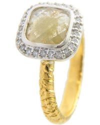 Susan Wheeler Design - River Washed Two-toned Rose Cut Diamond Ring - Lyst
