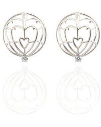 Jane North - Everlasting Love Spike Earrings In Sterling Silver - Lyst
