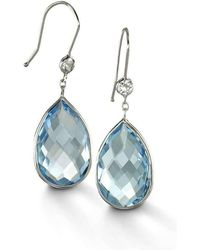 BCOUTURE - Blue Topaz With White Topaz Accent Drop Earrings - Lyst