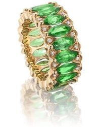 Niquesa Fine Jewellery - Amore Tsavorite Eternity Band - Lyst