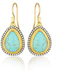"""Lika Behar Collection - Gold And Oxidised Silver """"my World"""" Earrings - Lyst"""