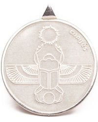 Congés - Silver Scarab Two Sided Coin Necklace - Lyst