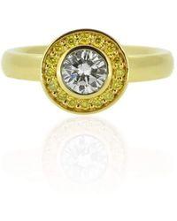 Flawless Jewellery - Luna Yellow Diamonds Ring - Lyst