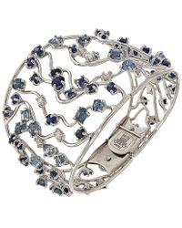 Botta Gioielli - Blue Sapphires And Diamonds Waves Bracelet - Lyst