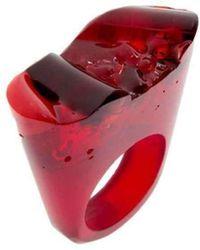 Pasionae - Murano Red Ring - Lust - Lyst