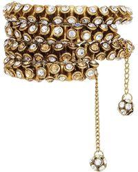 BuDhaGirl - Brass & Crystal Wrap Bracelet | - Lyst
