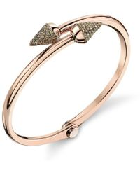 Borgioni - Small Spike Handcuff In Rose Gold - Lyst