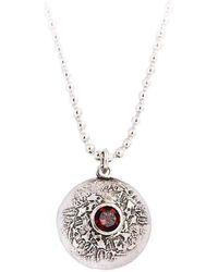 Becky Dockree Jewellery - Silver Double Gem Dome Necklace - Lyst