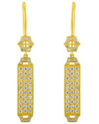 Amy Glaswand - Edge Pave Earrings - Lyst