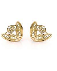 AMMA Jewelry - Gold Filigree Amour En Cage Earrings | - Lyst